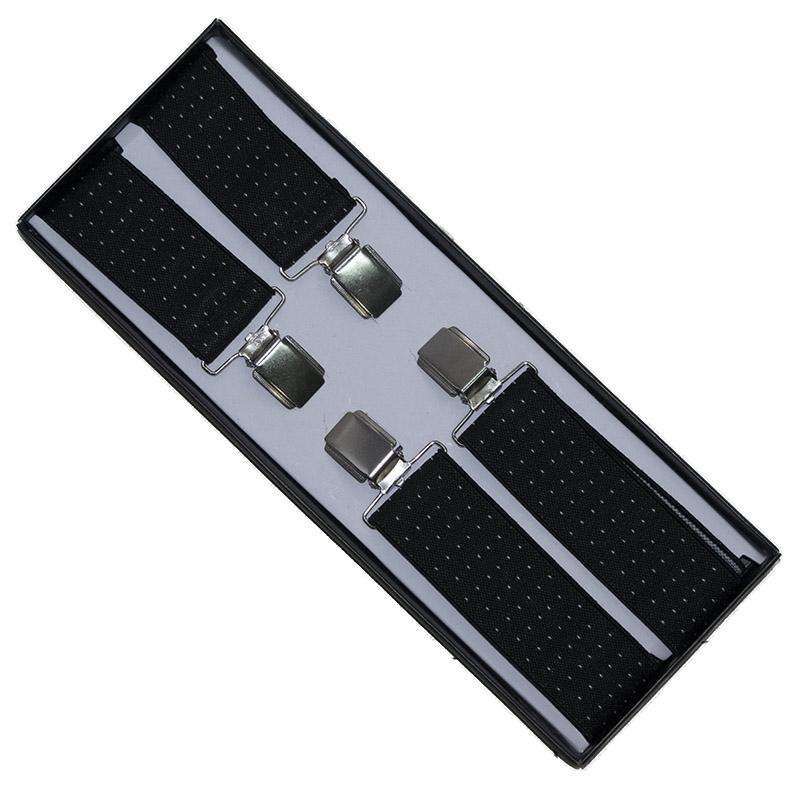 Μαύρες τιράντες με λευκά πουά στο Studio Accessori 0d716e74792