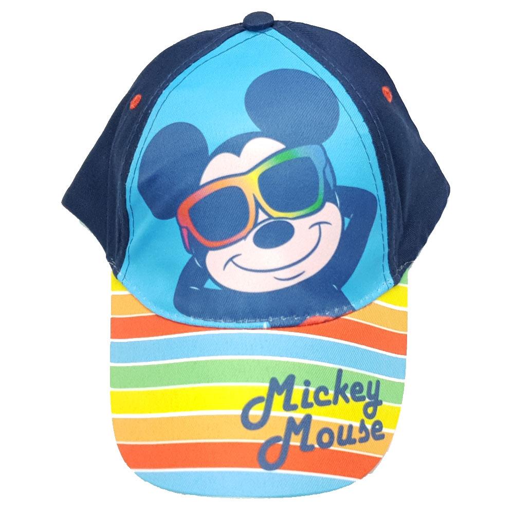 bbd3da52bb8 Μπλε καπέλο Mickey Mouse με πολύχρωμες ρίγες στο Studio Accessori
