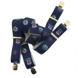 Μπλε Yachting τιράντες με χρυσά clips 9cb8a831e7f