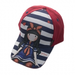 e1edbb09f8e Κόκκινο καπέλο Santoro με μπλε και λευκές ρίγες