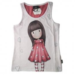 Ροζ αμάνικο μπλουζάκι Santoro με καρδιές e62bc2aa445