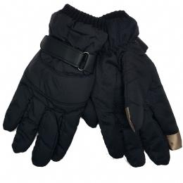 64f99e8af9 Μαύρα γυναικεία γάντια με λούτρινη επένδυση και δάχτυλα για οθόνες αφής